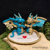 Custom Hand Sculpted Polymer Clay Dragon Sisters