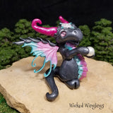 Custom Hand Sculpted Polymer Clay Special Princess Fairy Dragon - Wicked Winglings
