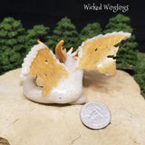 Keineal - Hand Sculpted Polymer Clay Dragon with Clear Quartz Sphere