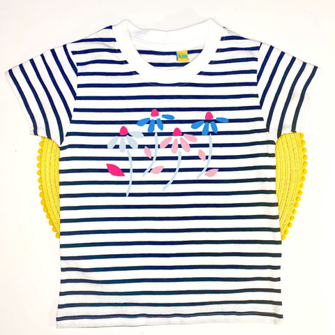 Little Floral Short Sleeve Stripe Tee