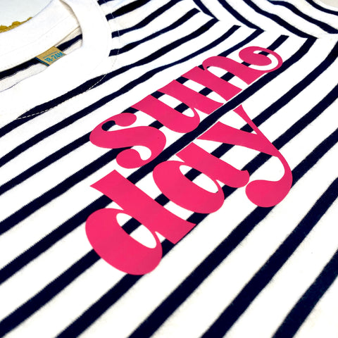 Sunday Navy Stripe Tee