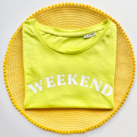Personalised Lime Green Top