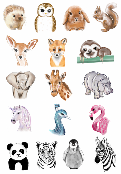 Pack of 5 Animal Greeting Cards