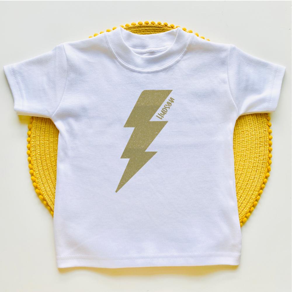 Personalised Lightening Bolt Tee