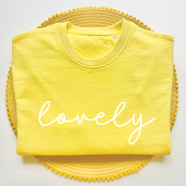 Yellow Sweatshirt Top