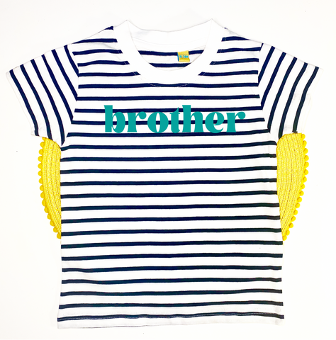 Customisable Navy Stripe Tee