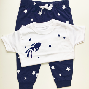 Little Navy Star Pyjamas