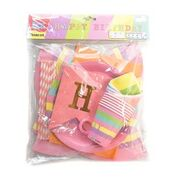 42pcs Party Set Happy Birthday  Pink