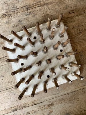 Vintage Wood Peg Board