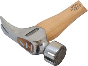 "Dalluge 21oz Framing Hammer, Serrated Face, Straight 17"" Hickory Handle #2110"