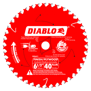 6‑1/2 in. x 40 Tooth Finish Trim Saw Blade #D0641X