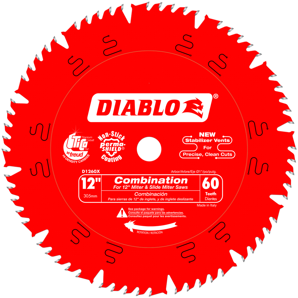 12 in. x 60 Tooth Combination Saw Blade #D1260X