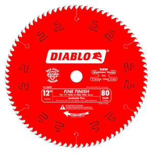 12 in. x 80 Tooth Fine Finish Saw Blade #D1280X