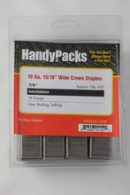 "Load image into Gallery viewer, 15/16"" Crown Paslode Staples 16 Gauge"