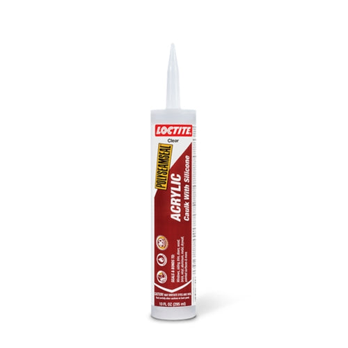Loctite Clear Acrylic Caulk with Silicone 10oz