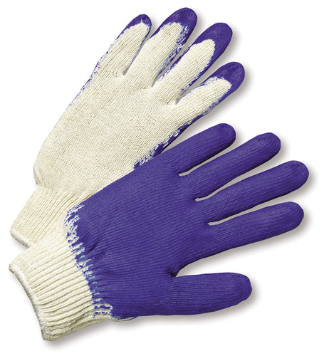 Cotton Polyester Glove, Latex Palm Coating (12pairs) #C122