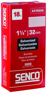 "Senco 18 Gauge Galvanized Straight ""Brad"" Nails"