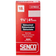"Load image into Gallery viewer, Senco 18 Gauge Galvanized Straight ""Brad"" Nails"