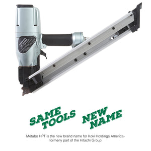 "Metabo HPT (Formerly Hitachi) NR65AK2 Strap-Tite Metal Hardware Nailer, 1-1/2"" to 2-1/2"" #NR65AK2"