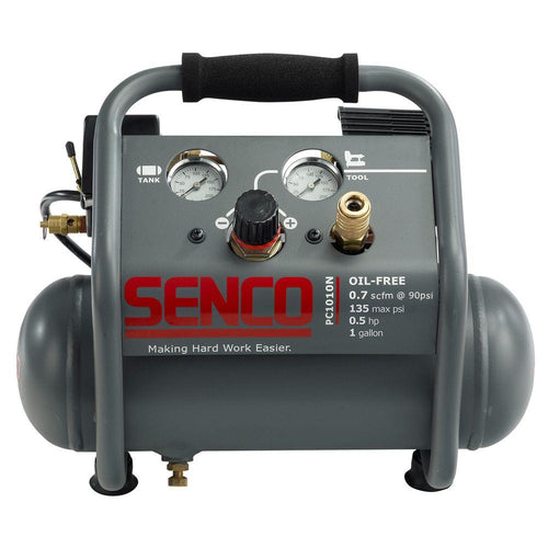 Senco PC1010N 1/5 HP Finish & Trim Air Compressor *ULTRA QUIET*