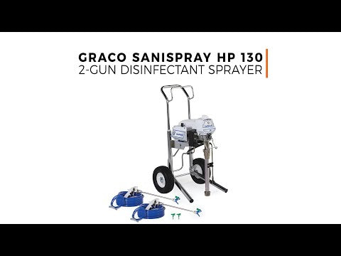 SaniSpray HP 130 - 2-Gun Cart Sprayer