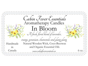 In Bloom 6 oz Coco-Beeswax, Wooden Wick, Aromatherapy Candle