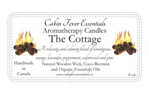 The Cottage 6 oz Coco-Beeswax, Wooden Wick, Aromatherapy Candle