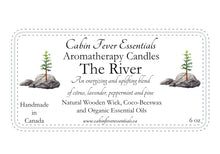 Load image into Gallery viewer, The River 6 oz Coco-Beeswax, Wooden Wick, Aromatherapy Candle