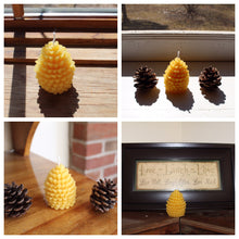 Load image into Gallery viewer, Pure Beeswax Pinecone Votive Candles