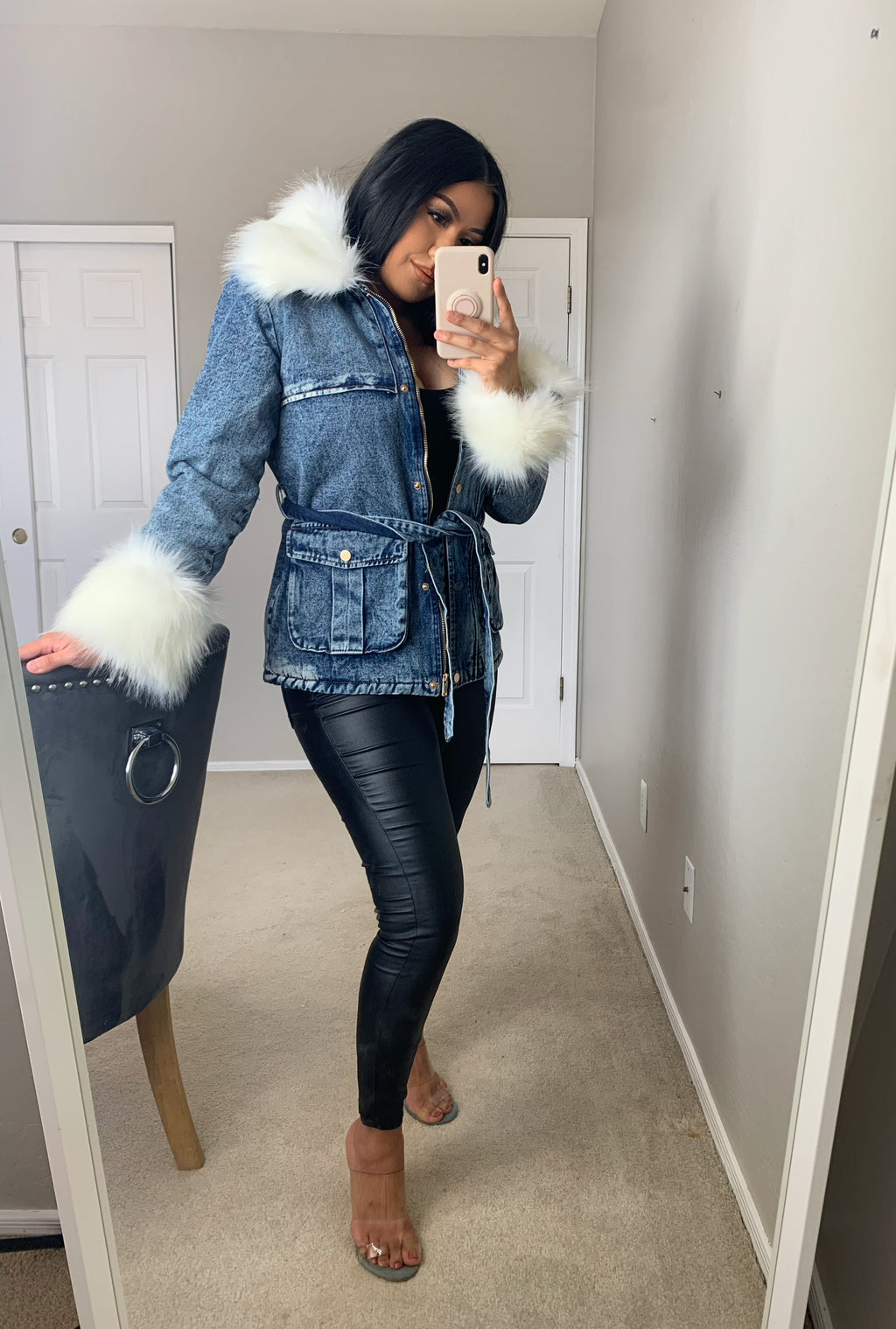 Lucy fur jacket