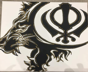 LION KHANDA CANVAS 20 X 16