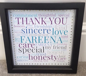 PERSONALISED WORD ART FRAMES