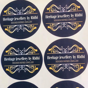 PERSONALISED BUSINESS LABELS STICKERS PER SHEET