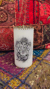 DIWALI INDIAN LORD GANESH  PERSONALISED CANDLE