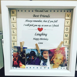 PERSONALISED SCRABBLE PHOTO FRAME
