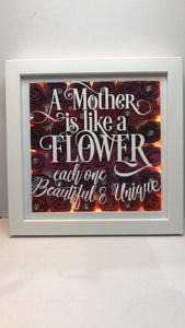 PERSONALISED FLOWER FRAME