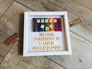 PERSONALISED TEACHER GIFT SCRABBLE FRAME
