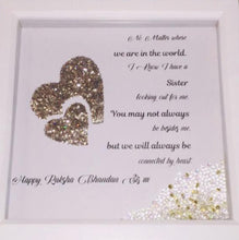 Load image into Gallery viewer, RAKSHA BANDHAN PERSONALISED FRAME