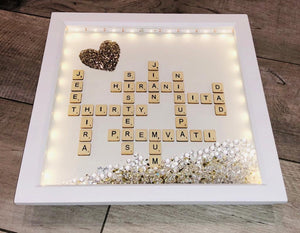 PERSONALISED SCRABBLE FRAMES