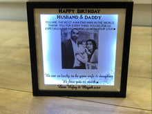 Load image into Gallery viewer, PERSONALISED OCCASION MESSAGE ON VINYL FRAME