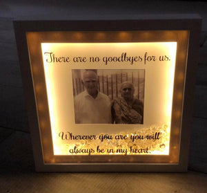 MEMORIAL FRAMES WITH VINYL PERSONALISED MESSAGE