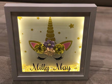 Load image into Gallery viewer, PERSONALISED GIRLS UNICORN NAME FRAME