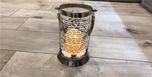 PERSONALISED MEMORIAL MESSAGE IN VINYL LANTERNS