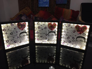 MEMORIAL FRAMES FLOWERS AND CRYSTALS