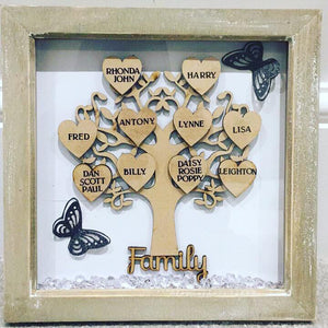 PERSONALISED FAMILY TREE NAMES UP TO 15 NAMES