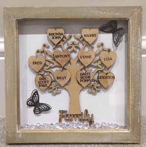 PERSONALISED FAMILY TREE NAMES UP TO 10 NAMES