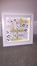 Load image into Gallery viewer, PERSONALISED BIRTHDAY SCRABBLE FRAME WITH DIMANTE