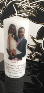 PERSONALISED CANDLE - FATHER'S DAY PRINTED PHOTO CANDLE