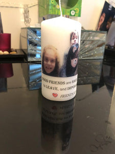 PERSONALISED CANDLE - FRIENDS PRINTED PHOTO CANDLE