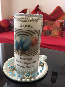 BABY BIRTH PERSONALISED CANDLE